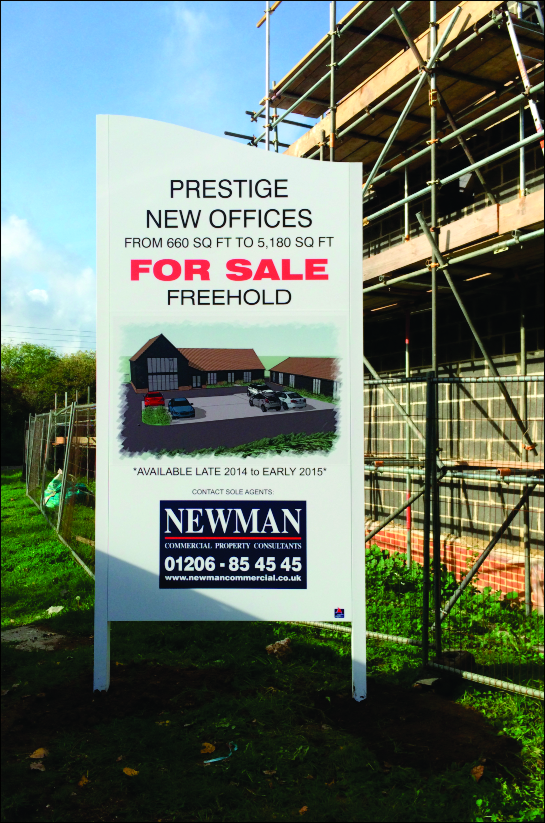 3m high developers board at building site, Ardleigh, Essex