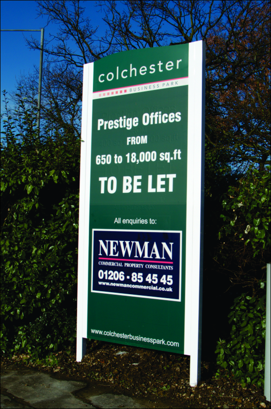 3m high site board for Newman Commercial
