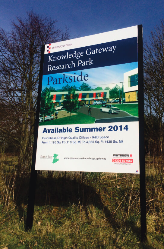 Site Board for University of Essex Knowledge Gateway