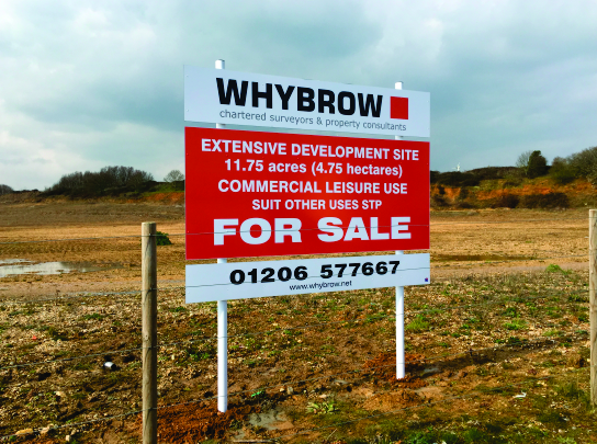 Site Board advertising land for sale